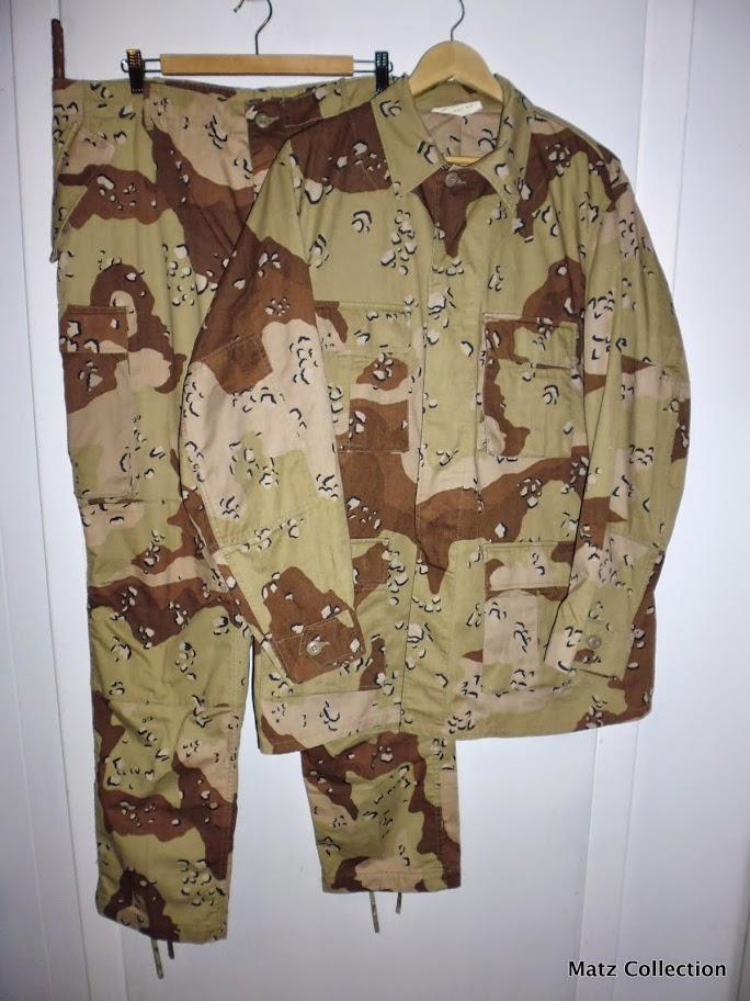 "Desert uniforms (DCU) - DESERT 6 colors ""Chocolate chip""  dated 1984 P1040510"