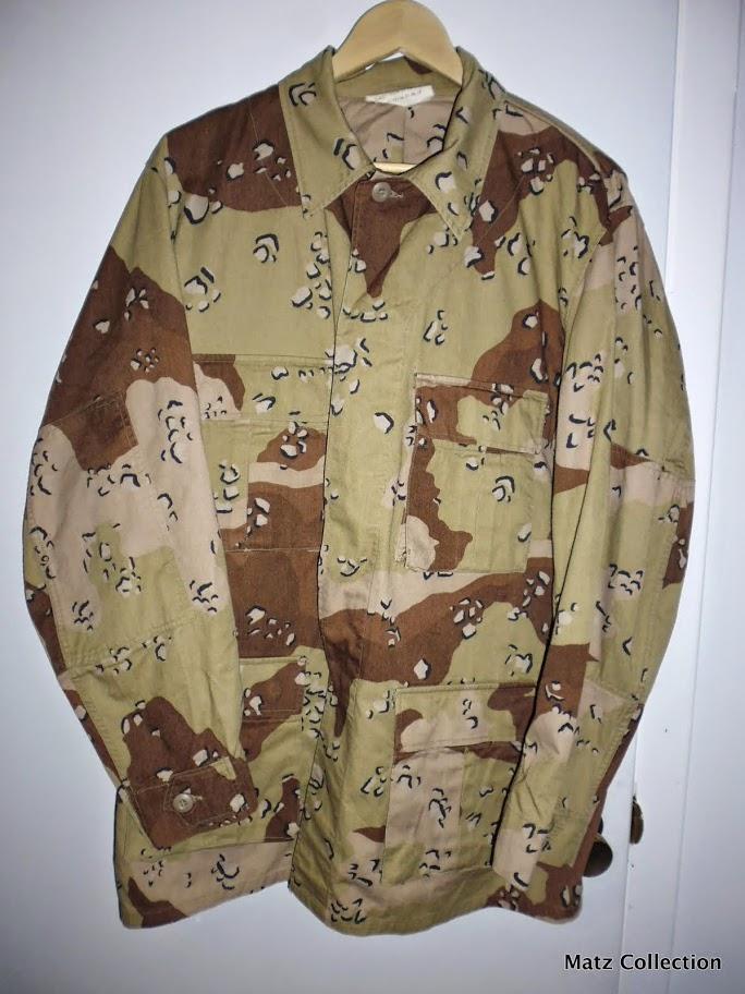 "Desert uniforms (DCU) - DESERT 6 colors ""Chocolate chip""  dated 1984 P1040511"