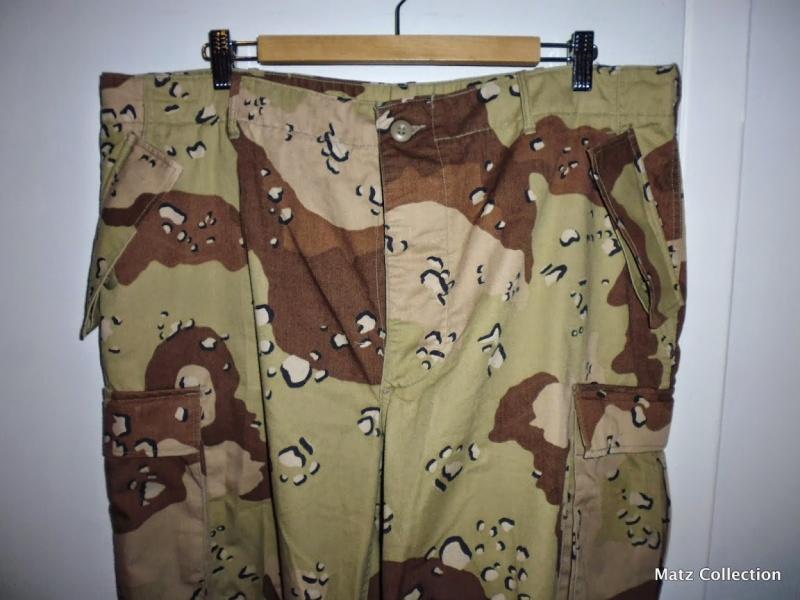 "Desert uniforms (DCU) - DESERT 6 colors ""Chocolate chip""  dated 1984 P1040512"