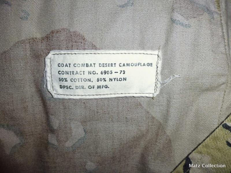 "Desert uniforms (DCU) - DESERT 6 colors ""Chocolate chip""  dated 1984 P1040513"