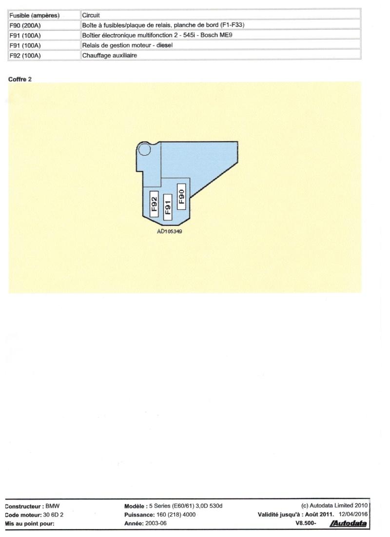 Schémas de fusibles 530 e60  Image11