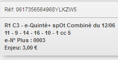 12/06/2018 --- NANTES --- R1C3 --- Mise 3 € => Gains 0 €. Scree159