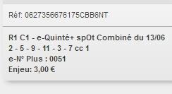 13/06/2018 --- AUTEUIL --- R1C1 --- Mise 3 € => Gains 0 € Scree163