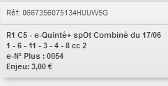 17/06/2018 --- CHANTILLY --- R1C5 --- Mise 3 € => Gains 0 € Scree179