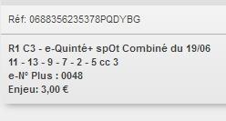 19/06/2018 --- DIEPPE --- R1C3 --- Mise 3 € => Gains 0 € Scree187