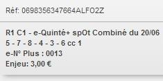 20/06/2018 --- REIMS --- R1C1 --- Mise 3 € => Gains 0 €. Scree191