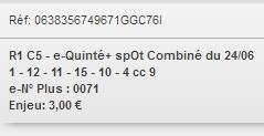 24/06/2018 --- VINCENNES --- R1C5 --- Mise 3 € => Gains 0 €. Scree207