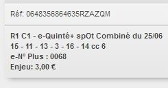 25/06/2018 --- SAINT-CLOUD --- R1C1 --- Mise 3 € => Gains 0 €. Scree212