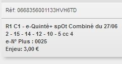 27/06/2018 --- MAISONS-LAFFITTE --- R1C1 --- Mise 3 € => Gains 0 €. Scree221