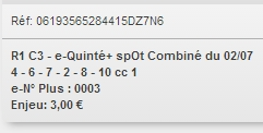 02/07/2018 --- CLAIREFONTAINE --- R1C3 --- Mise 3 € => Gains 0 €. Scree245
