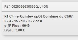03/07/2018 --- DEAUVILLE --- R1C4 --- Mise 3 € => Gains 0 €. Scree249