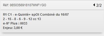 16/07/2018 --- VICHY --- R1C1 --- Mise 6 € => Gains 0 €. Scree291