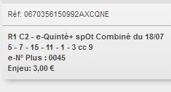 18/07/2018 --- GRAIGNES --- R1C3 --- Mise 3 € => Gains 0 €. Scree299