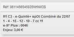 22/07/2018 --- MAISONS-LAFFITTE --- R1C3 --- Mise 3 € => Gains 0 €. Scree312