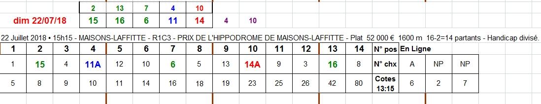 22/07/2018 --- MAISONS-LAFFITTE --- R1C3 --- Mise 3 € => Gains 0 €. Scree321