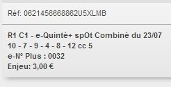 23/07/2018 --- CHANTILLY --- R1C1 --- Mise 3 € => Gains 0 €. Scree324