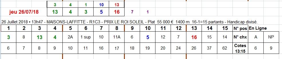 26/07/2018 --- MAISONS-LAFFITTE --- R1C3 --- Mise 3 € => Gains 0 €. Scree338