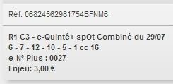 29/07/2018 --- DEAUVILLE --- R1C3 --- Mise 3 € => Gains 0 €. Scree349