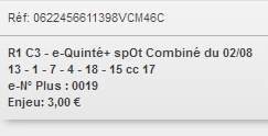 02/08/2018 --- CLAIREFONTAINE --- R1C3 --- Mise 3 € => Gains 0 €. Scree365