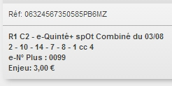 03/08/2018 --- CABOURG --- R1C2 --- Mise 3 € => Gains 0 €. Scree371