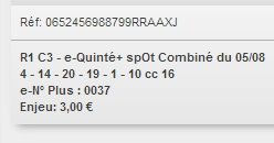 05/08/2018 --- DEAUVILLE --- R1C3 --- Mise 3 € => Gains 0 €. Scree379
