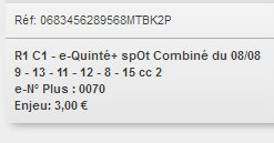 08/08/2018 --- SAINT-MALO --- R1C1 --- Mise 3 € => Gains 0 €. Scree392
