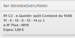 10/08/2018 --- CABOURG --- R1C2 --- Mise 3 € => Gains 0 €. Scree396