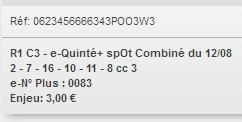 12/08/2018 --- DEAUVILLE --- R1C3 --- Mise 3 € => Gains 0 €. Scree404