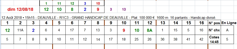 12/08/2018 --- DEAUVILLE --- R1C3 --- Mise 3 € => Gains 0 €. Scree405