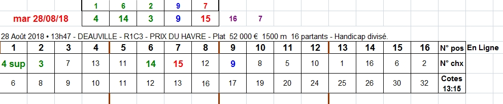 28/08/2018 --- DEAUVILLE --- R1C3 --- Mise 10 € => Gains 0 €. Scree428