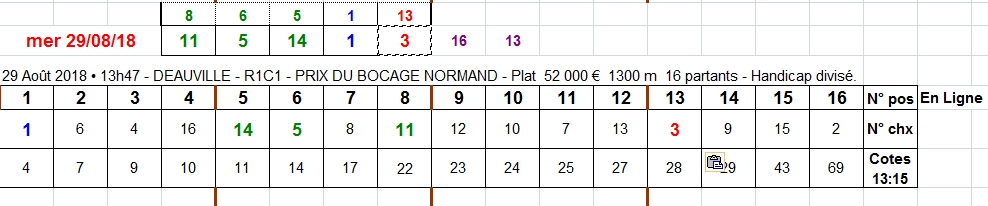 29/08/2018 --- DEAUVILLE --- R1C1 --- Mise 10 € => Gains 0 €. Scree434