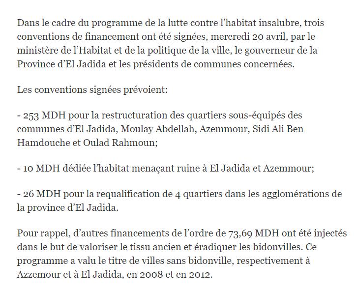 Revue de la presse marocaine Mydia210