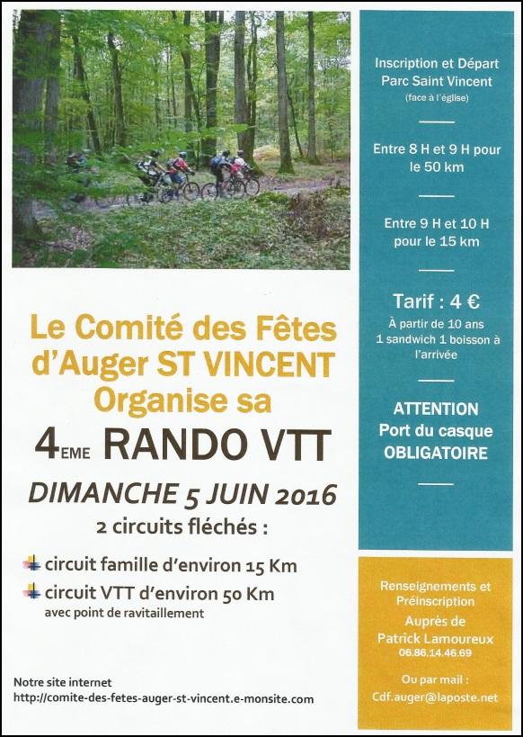 4eme édition Rando d'Auger Saint Vincent le 5 juin 2016 Image23