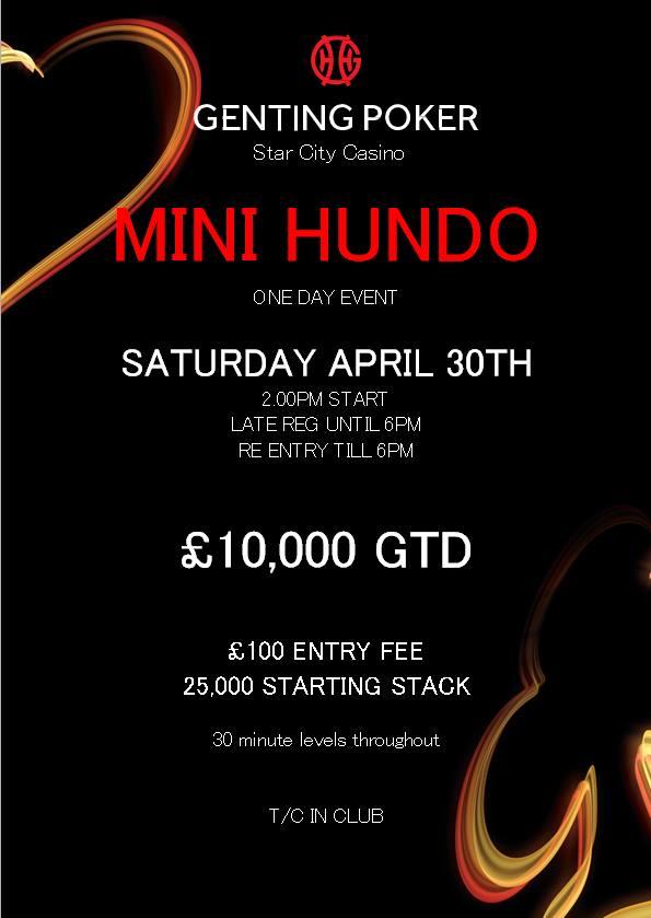 Star City Mini Hundo - 30th April - £10000 GTD 12966410