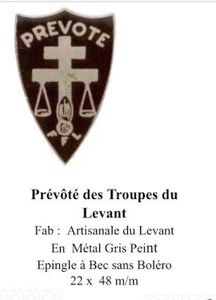 LES INSIGNES DE LA PREVOTE AFN 1943 A 1945 Insign12