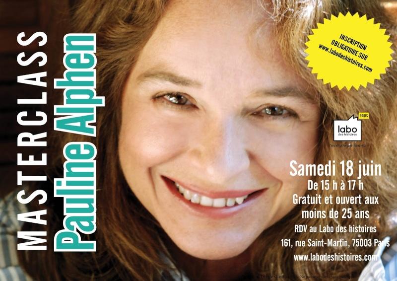 Masterclass d'écriture avec Pauline Alphen ! Visuel10