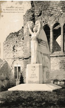 Carte postale du monument aux morts de Cormicy Cormic10