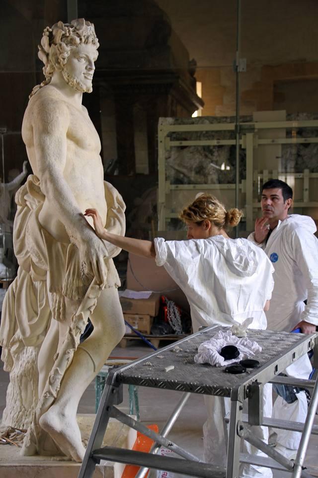 Visite à l'atelier de restauration des sculptures du C2RMF - Page 2 13001110