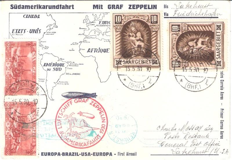 nach - Südamerikafahrt 1930, Post nach Lakehurst - Seite 4 Saar_s11