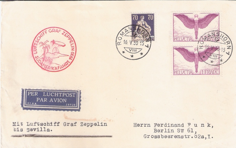 nach - Südamerikafahrt 1930, Post nach Sevilla - Seite 2 Schwei10