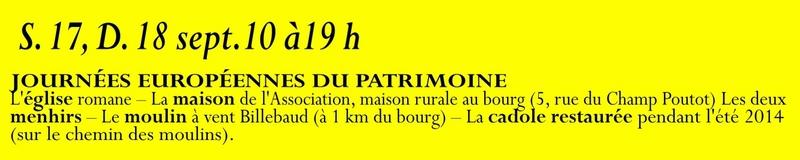 Animation mai à septembre 2016 Association de sauvegarde et de mise en valeur de Saint-Clément-sur-Guye. 17_sep10