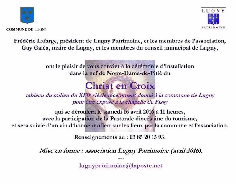 Cérémonie d'inauguration du Christ en Croix organisée à l'initiative de Lugny Patrimoine en lien avec la commune de Lugny  7_copi11