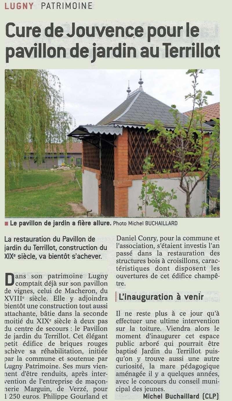 """Lugny (71) : """"Cure de jouvence pour le pavillon de jardin du Terrillot"""" (""""Le JSL"""" du mardi 31.05.2016). Cure_d10"""