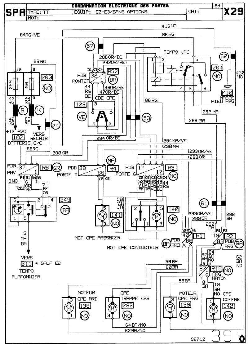 help : recherche schéma électrique centralisation de renault 25 1_page10