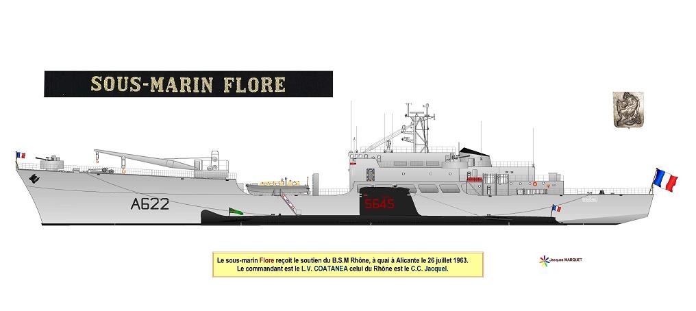 [ Divers - Les classiques ] PROFILS DE SOUS-MARINS TYPE DAPHNE - Page 2 Flore_12
