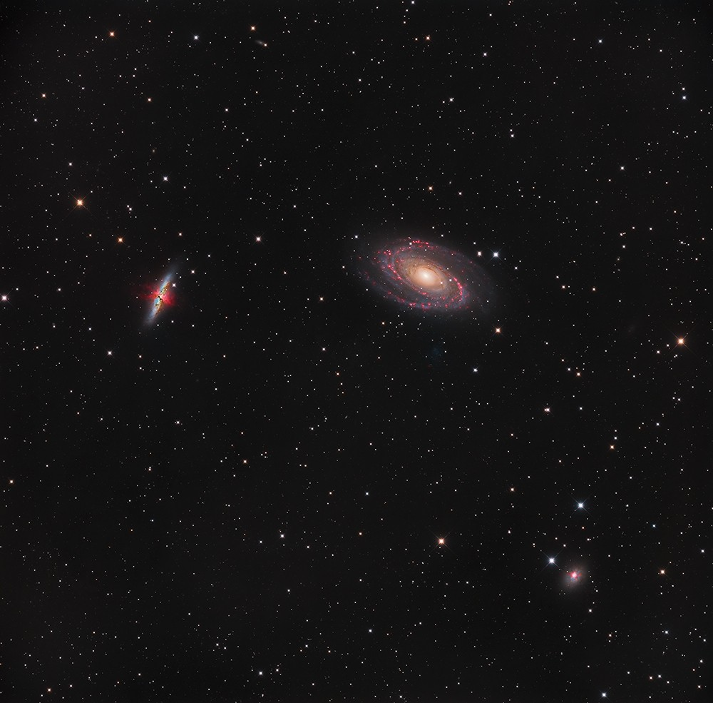M81, M82, NGC3077 au CCA250 en 24H M81_we10