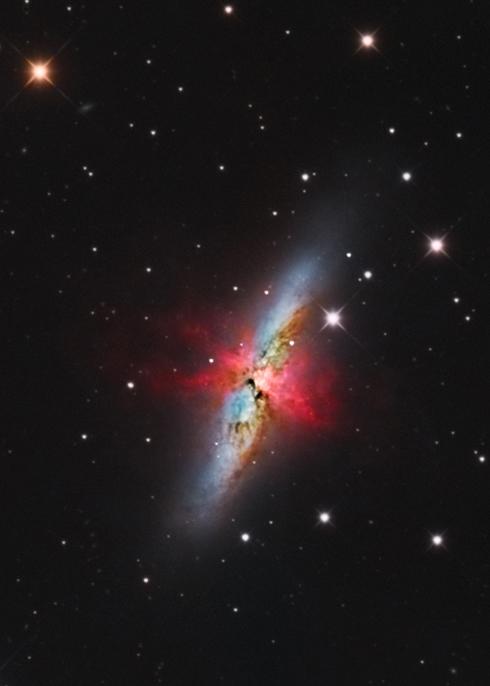 M81, M82, NGC3077 au CCA250 en 24H M8210