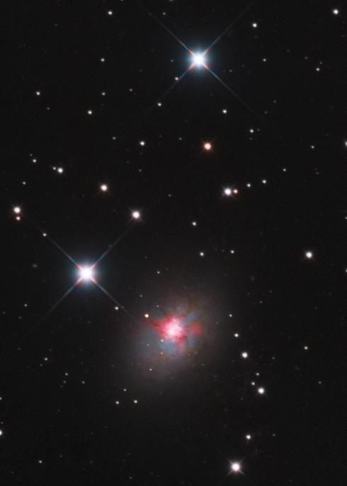 M81, M82, NGC3077 au CCA250 en 24H Ngc30710
