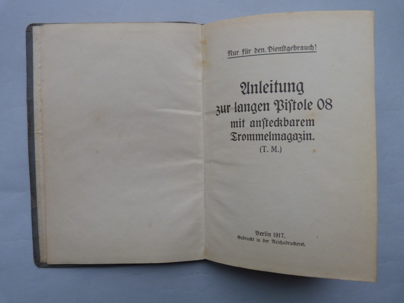Manuel en langue allemande sur le P 08/14 LP et sa traduction en langue française. Manuel11