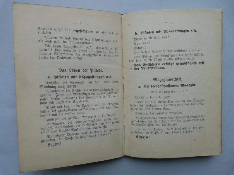 Manuel en langue allemande sur le P 08/14 LP et sa traduction en langue française. Manuel12